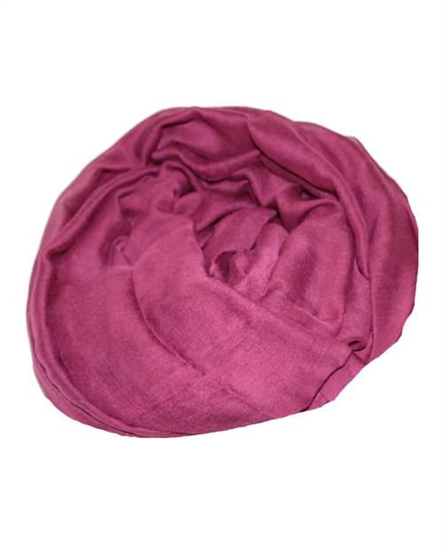 Ensfarvet tørklæde, lilla blomme