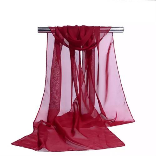 Let tørklæde, vinrød