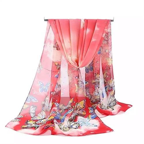 Tørklæde sommerfugle, rød