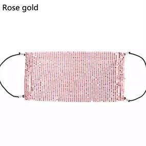 Facecover, rosegold palietter