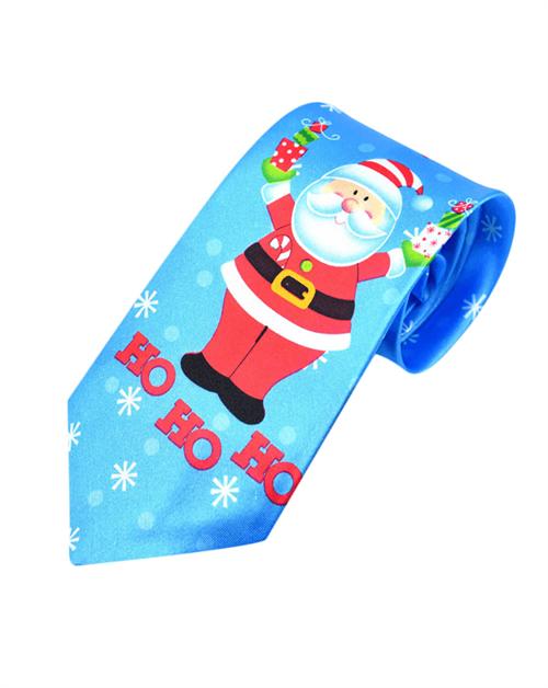 Slips med julemand og snefnug