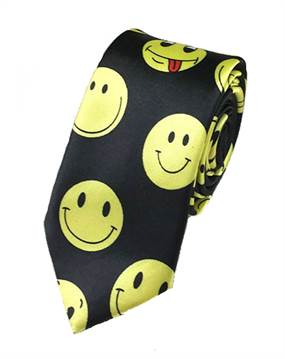 Sort slips med gule smileys