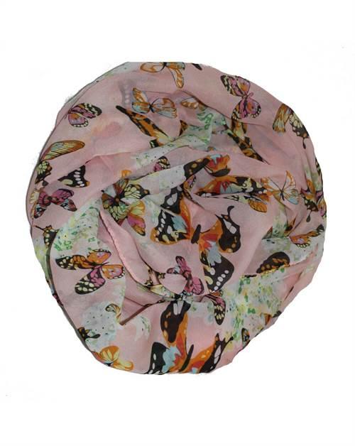 Sommerfugletørklæde, rosa