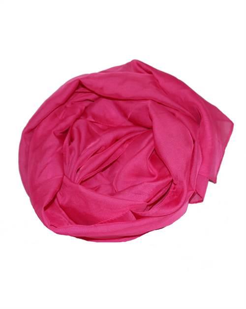 Let tørklæde, mørk pink