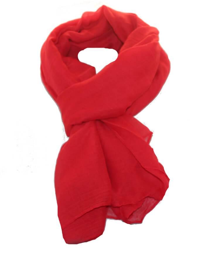 7c70d8411f1 Køb ensfarvet tørklæde i rød til god pris online hos Smikka